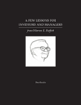 A Few Lessons for Invenstors and Managers